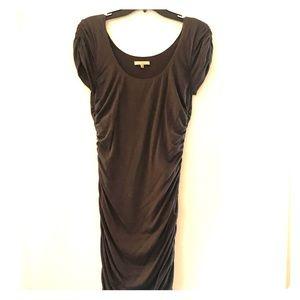 Grey knee length dress, cinched sides